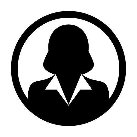 User Icon - Woman, Profile, Businesswoman, Avatar, Person Glyph Vector illustration Illustration