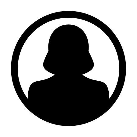 account executive: User Icon - Woman, Profile,  Avatar, Person Glyph Vector illustration