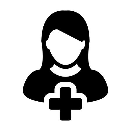 new account: Add User Icon - Woman, Account, New, Profile Glyph Vector illustration