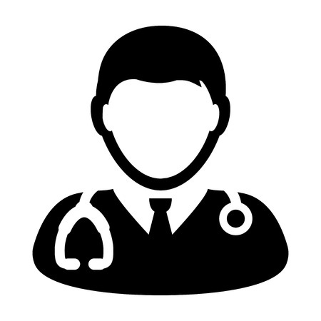 general practitioner: Doctor Icon - Physician, Medical, Health Care, MD Glyph Vector illustration Illustration