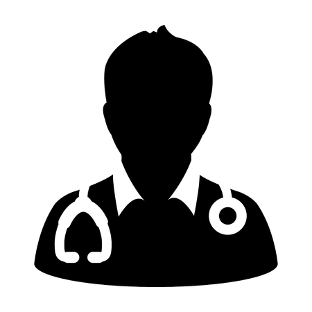 doctor icon: Doctor Icon - Physician, Medical, Health Care, MD Glyph Vector illustration Illustration