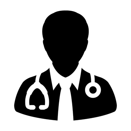 md: Doctor Icon - Physician, Medical, Health Care, MD Glyph Vector illustration Illustration