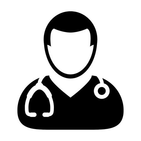 Dell'icona del medico - Medico, Medicina, sanità, MD Glyph vettore Archivio Fotografico - 65805993