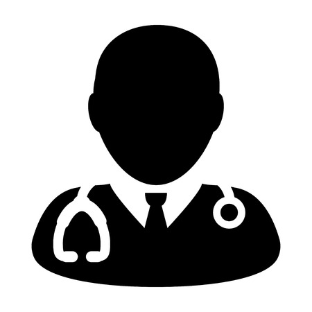 Doctor Icon - Physician, Medical, Health Care, MD Glyph Vector illustration Illustration