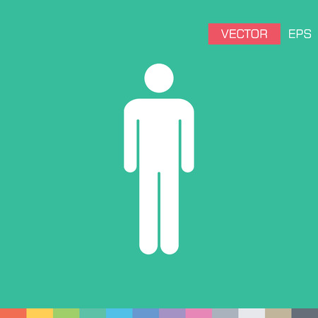 account executive: Human, Man, Male, Person, Avatar, User Flat Color Vector Icon Illustration Illustration