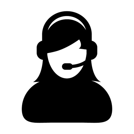 Customer Service, Support, Help Desk, Call Center Vector Icon