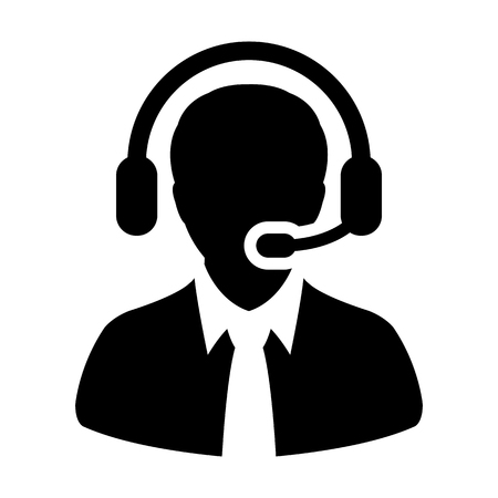 Customer Service, Support, Help Desk, Call Center Vector Icon