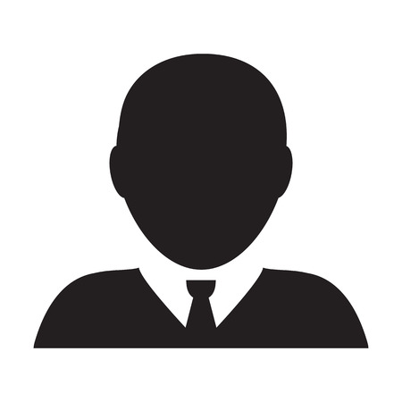 User Icon - Vector Man Person Profile Avatar Glyph Pictogram Symbol Illustration