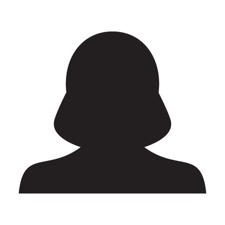 Woman User Icon - Person Profile Avatar Glyph Vector Illustration