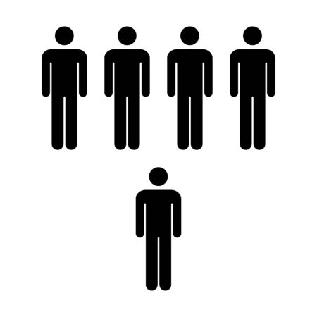 People Icon Vector Group Of Men Team Symbol For Business Info
