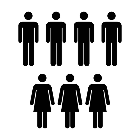 People Icon Vector Group Of Men And Womenteam Symbol For Business
