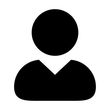 User Icon Vector Male Person Symbol Profile Avatar Sign in Flat Color Glyph Pictogram illustration
