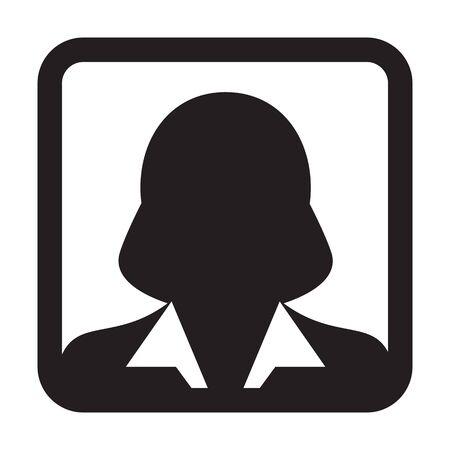 Male user icon. Avatar.