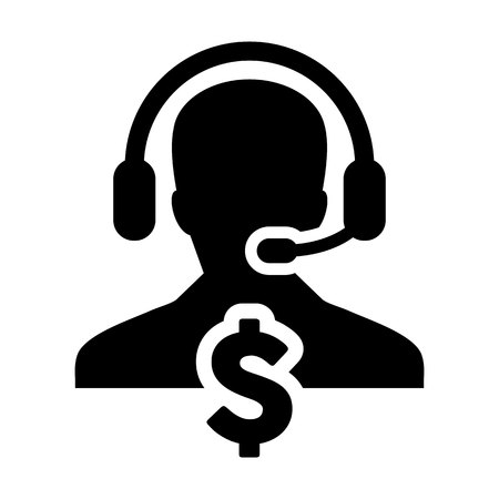 Customer service with dollar sign icon