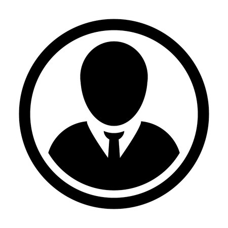 User Icon Vector Male Person Symbol. Profile Circle Avatar Sign in Flat Color Glyph Pictogram illustration. Illustration