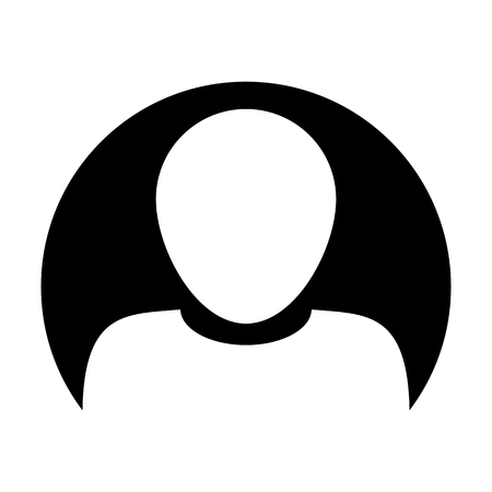 User icon vector male person symbol circle profile avatar sign in flat color glyph pictogram illustration