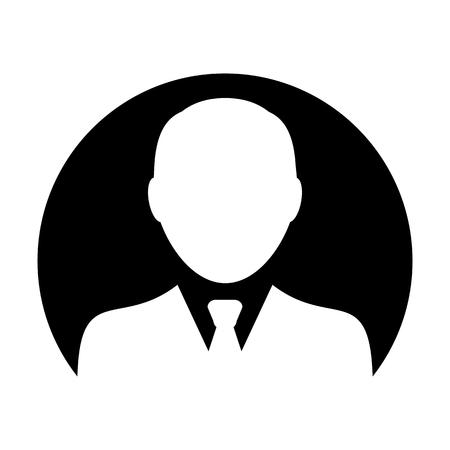 Profile icon vector male user person avatar symbol in flat color glyph pictogram illustration
