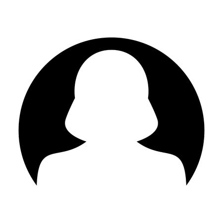 Avatar icon vector male user person profile symbol in circle flat color glyph pictogram illustration