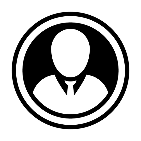 Avatar icon vector male person symbol circle user profile avatar sign in flat color glyph pictogram illustration 일러스트