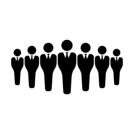 Business people icon vector male group of persons symbol avatar for business management team in flat color glyph pictogram illustration Vectores