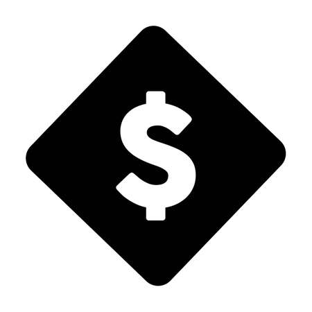 USD sign icon vector dollar symbol currency for business and finance in a flat color glyph pictogram illustration
