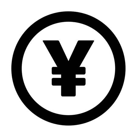 Yuan and Yen sign icon vector currency symbol for business and finance in a flat color glyph pictogram illustration Иллюстрация