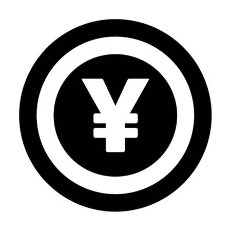 Yuan and Yen icon vector currency symbol sign for for business and finance in a flat color glyph pictogram illustration