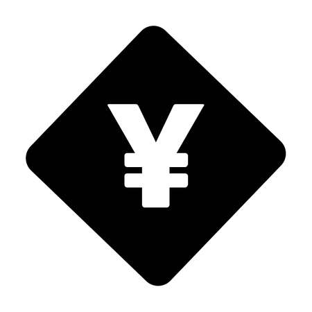 Yen icon vector currency symbol sign for for business and finance in a flat color glyph pictogram illustration