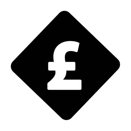 Pound icon vector currency symbol sign for for business and finance in a flat color glyph pictogram illustration 向量圖像