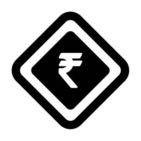 Currency Symbol icon vector Rupee sign symbol for business and finance in a flat color glyph pictogram illustration 向量圖像