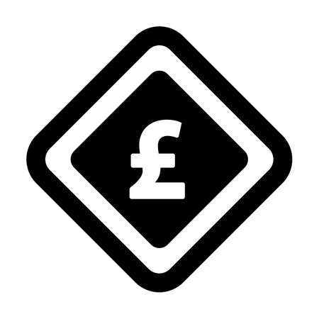 Currency Symbol icon vector Pound sign symbol for business and finance in a flat color glyph pictogram illustration