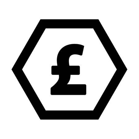 Pound icon vector currency symbol sign for for business and finance in a flat color glyph pictogram illustration 版權商用圖片 - 168377238