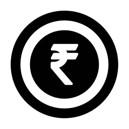 Rupee icon vector currency symbol sign for for business and finance in a flat color glyph pictogram illustration 版權商用圖片 - 168377239