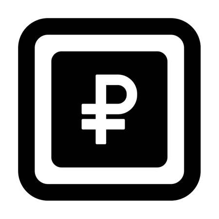 Ruble sign icon vector currency symbol for business and finance in a flat color glyph pictogram illustration 版權商用圖片 - 168377242