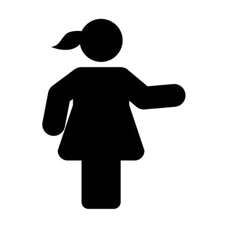 Female icon vector male symbol with open hands in flat color glyph pictogram sign illustration 版權商用圖片 - 168377208