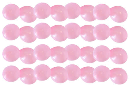 Blur background pastel pink,   balloons on white background and clipping path