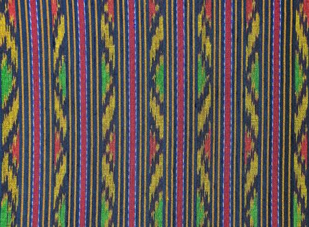 pattern of thai hand made fabric photo