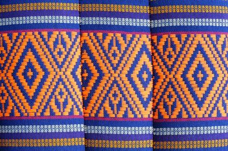 thailand silk: texture on pillow Stock Photo