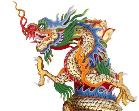 dragones: Dragon aislado Foto de archivo