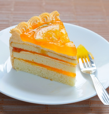 layer cake: Orange cake
