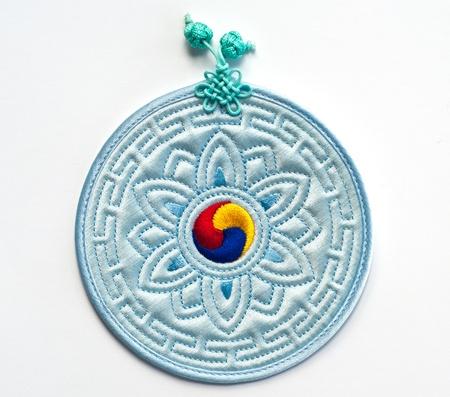 blue yin yang photo