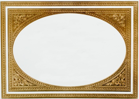 place card: golden frame