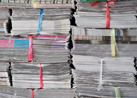 financial newspaper: stack of newspaper Editorial