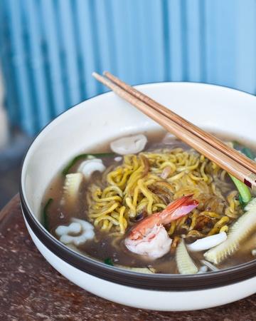 seafood soup: noodles seafood