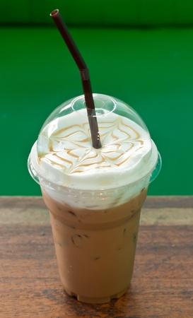 frappe: iced coffee in cafe