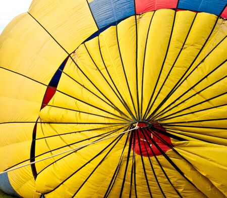 colorful pattern on hot air balloon photo