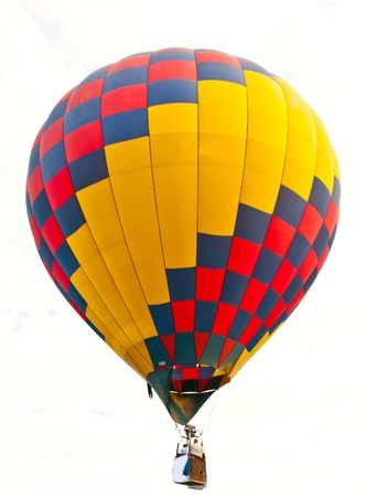 soaring: colorful hot air balloon isolated on white background Stock Photo