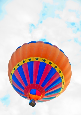 colorful hot air balloon on sky background photo