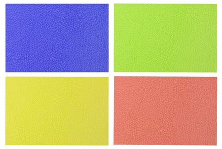 colorful leather background, purple, green, yellow, red photo