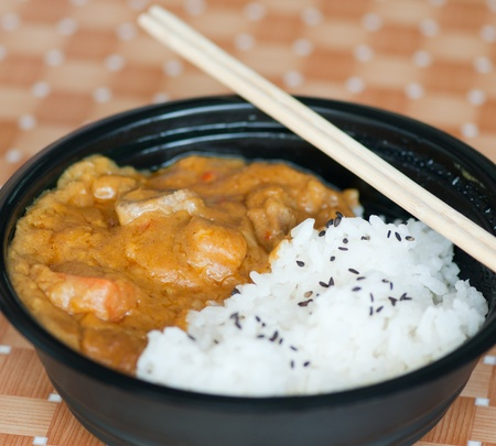 curry with rice, japanese food photo